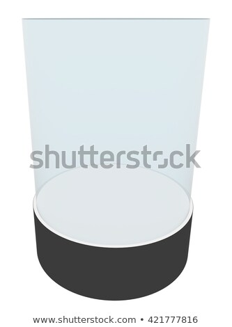 round glasses showcases with white pedestal stock photo © cherezoff