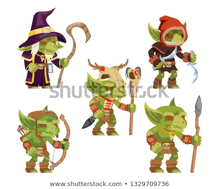 game set of fantasy warriors stock photo © robuart