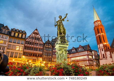Old traditional buildings in Frankfurt at the Roemer square, Ger Stock photo © meinzahn
