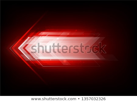 Dark red tech glowing arrows background Stock photo © saicle