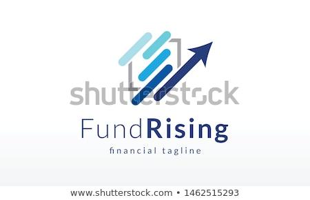 üzlet pénzügy logo iroda terv hullám Stock fotó © Ggs