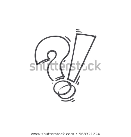 Question mark and exclamation point Stock photo © Oakozhan