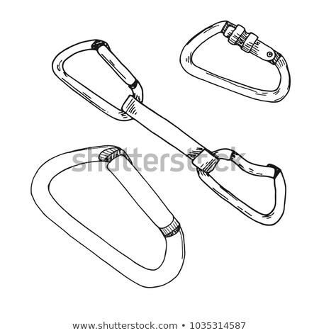 climbing carabiner sketch icon stock photo © rastudio