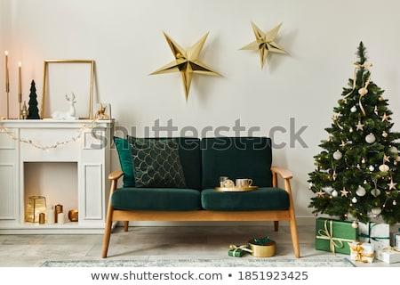 Arany csillagok ünnep zuhan arany ragyogó Stock fotó © Andrei_