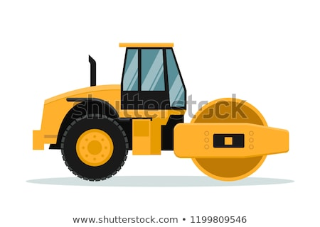 man driving road roller stock photo © bluering