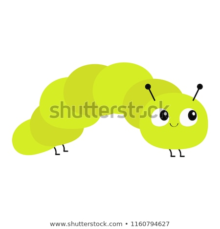 Colorful caterpillar smiling on white background Stock photo © bluering
