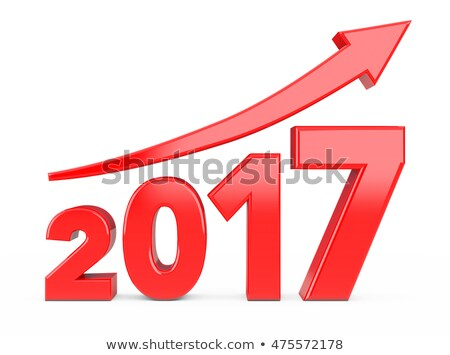 red arrow up with 2017 stock photo © oakozhan
