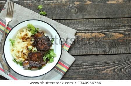 pörkölt · disznóhús · borda · tányér · kínai · konyha - stock fotó © digifoodstock