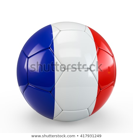 soccer ball on French flag Stock photo © ssuaphoto