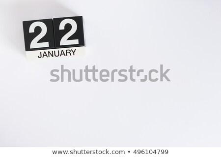 3D · blu · lettere · inverno · bianco - foto d'archivio © oakozhan