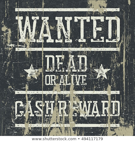 Wanted dead or alive vintage sign. Grunge styled stamp letters.  Stock photo © pashabo