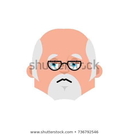 Doctor sad emotion avatar. Physician sorrowful emoji. Vector ill Stock photo © popaukropa