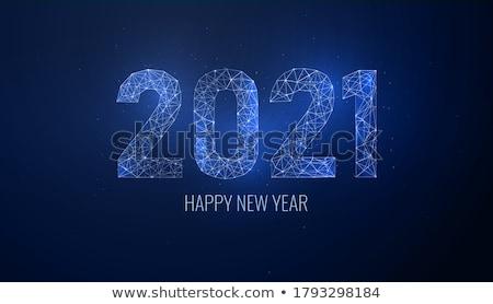 happy new year blue neon sign stock photo © voysla