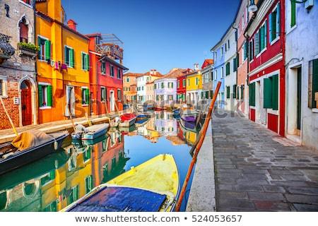 Sokak renkli binalar ada Venedik İtalya Stok fotoğraf © Virgin