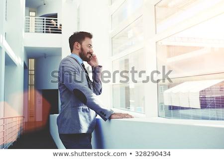 Männlich Architekt sprechen Handy Bau Stock foto © wavebreak_media