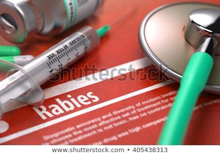 Afgedrukt diagnose oranje wazig tekst pillen Stockfoto © tashatuvango