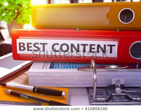 Czerwony biuro folderze napis najlepszy zawartość Zdjęcia stock © tashatuvango