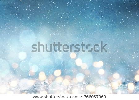 Altın Noel kar daire bokeh Stok fotoğraf © romvo