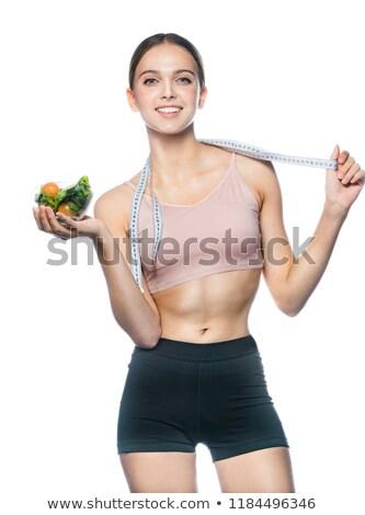 セクシーな女性 · ランジェリー · 壁 · 若い女性 - ストックフォト © deandrobot