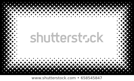Black and White Halftone Frame with Copyspace for Presentation o Stock photo © almagami