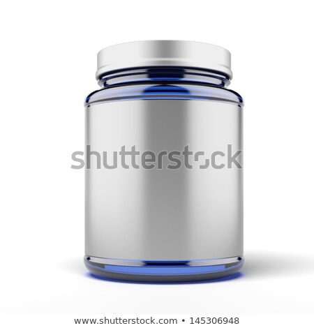 Stockfoto: Small Jar For Sport Supplements