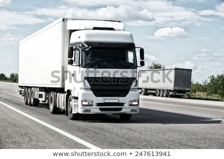Blue truck goes on the way Stock photo © ssuaphoto