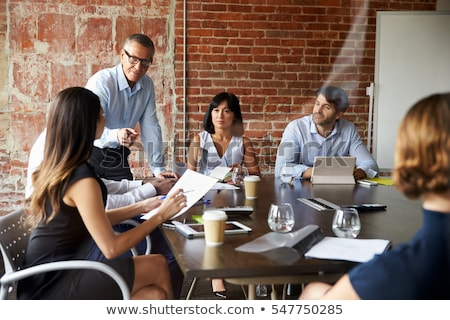 Group Meeting in boardroom Stock photo © IS2