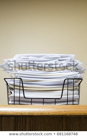 Papír bejövő üzenetek üzlet iroda stressz irat Stock fotó © IS2