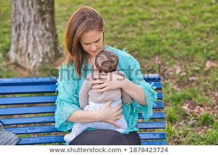 közel-keleti · nő · fiú · ül · park · boldog - stock fotó © monkey_business