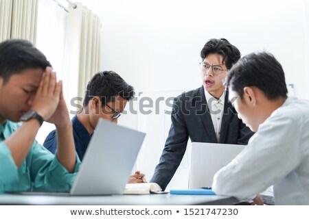 Enojado empresarios hombre empresario de trabajo Foto stock © IS2