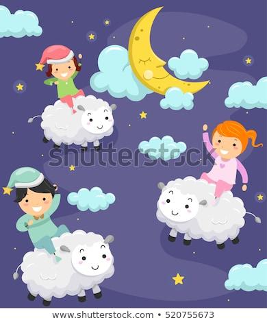 子供 羊 1泊 気まぐれな 実例 パジャマ ストックフォト © lenm
