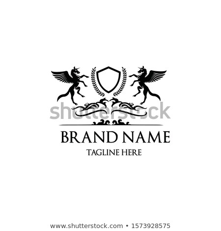 pegasus heraldic symbol sign animal for coat of arms royal hor stock photo © maryvalery
