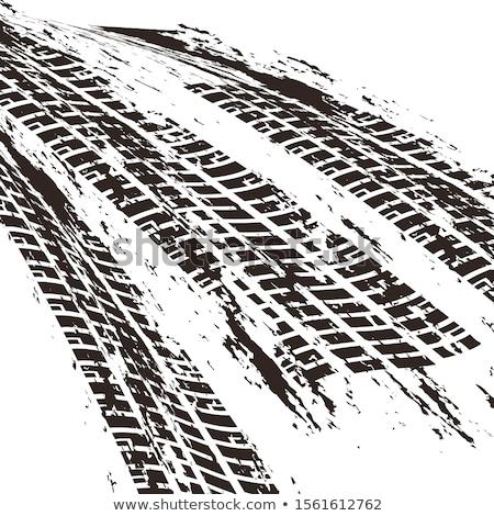opon · utwór · wektora · czarno · białe · stylu · samochodu - zdjęcia stock © sarts