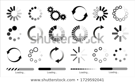 set of circular load bar vector illustration stock photo © kup1984