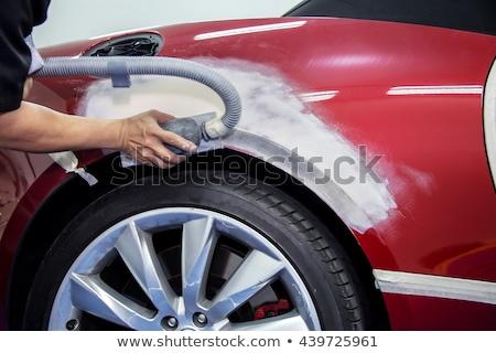 mechanical worker repairing car body stock photo © kzenon