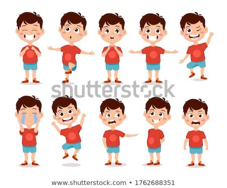 Teen jongen vector animatie schepping ingesteld Stockfoto © pikepicture
