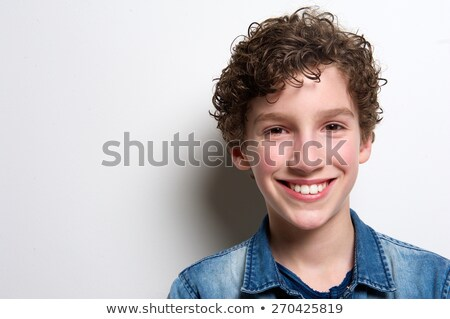 Portrait of smiling boy Stock photo © acidgrey
