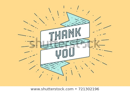 than you ribbon banner with text thank you stock photo © foxysgraphic