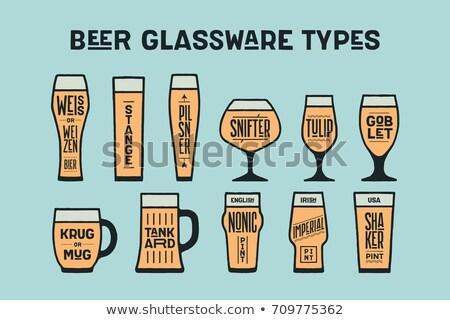 bier · schoolbord · witte · zwart · wit · vintage - stockfoto © foxysgraphic