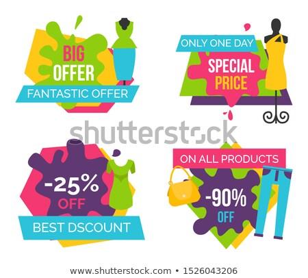 büyük · satış · giysi · örnek · renkli · tshirt - stok fotoğraf © robuart