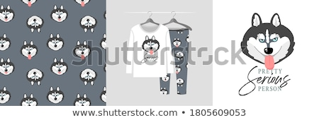 Сток-фото: Cartoon Wolf Pajamas
