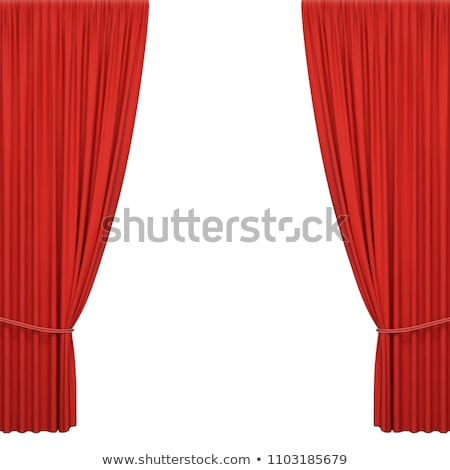 Cinema Screen With Red Curtains Stock photo © barbaliss