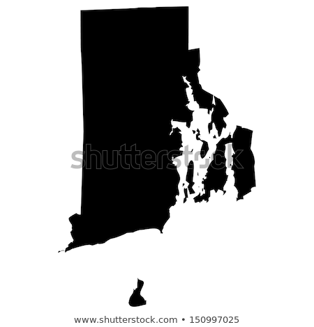 Rhode Island outline map state shape vector illustration stock photo © kyryloff