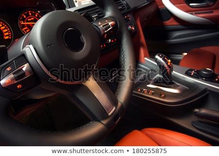 Controle knoppen stuur auto interieur ondiep Stockfoto © sarymsakov