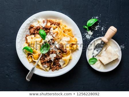 Rústico italiano pasta carne salsa Foto stock © zkruger