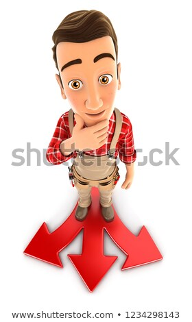 Foto stock: 3D · handyman · difícil · escolha · ilustração · isolado
