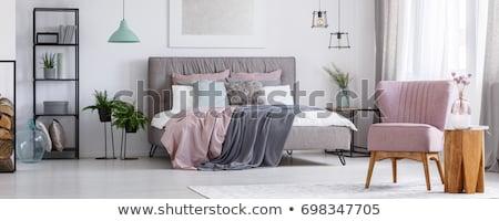 Schlafzimmer Rosa Mobel Illustration Wand Home Vektor