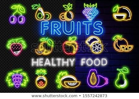 Vintage brillo limón orgánico frutas alimentos frescos Foto stock © lissantee