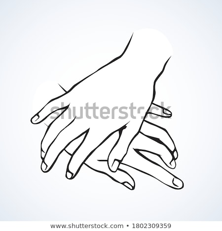 Masculina manos papel Pareja pictograma personas Foto stock © dolgachov