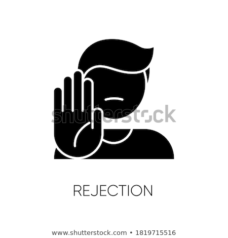 Nem negatív válasz logotípus ikon visszautasítás Stock fotó © robuart